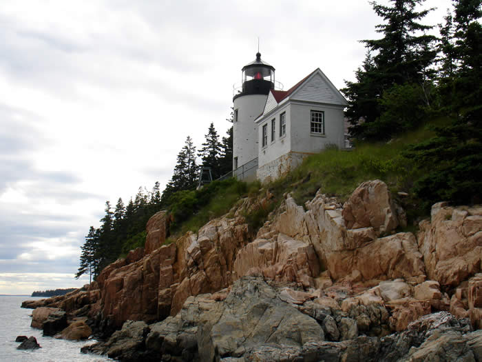 Bass Harbor Lighthouse on Mount Desert Island, Maine