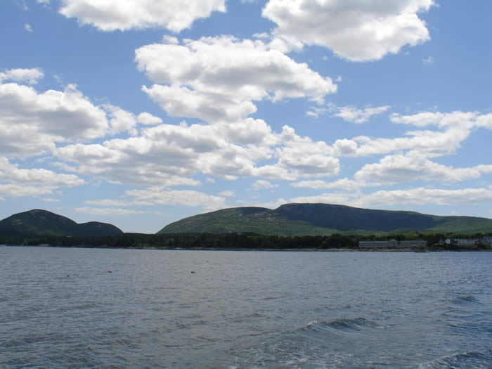 Cadillac Mountain as seen from one of the nature cruises off Bar Harbor, Maine