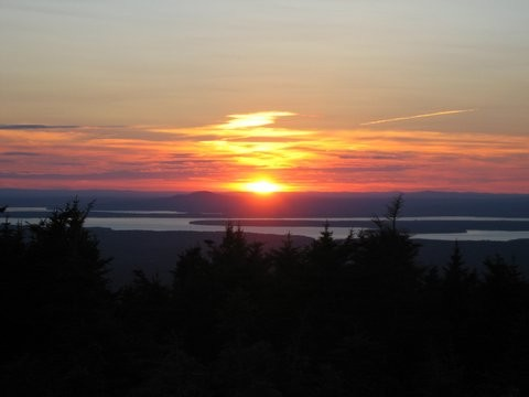 Sunset from Cadillac Mountain (photo taken by one of our guests)