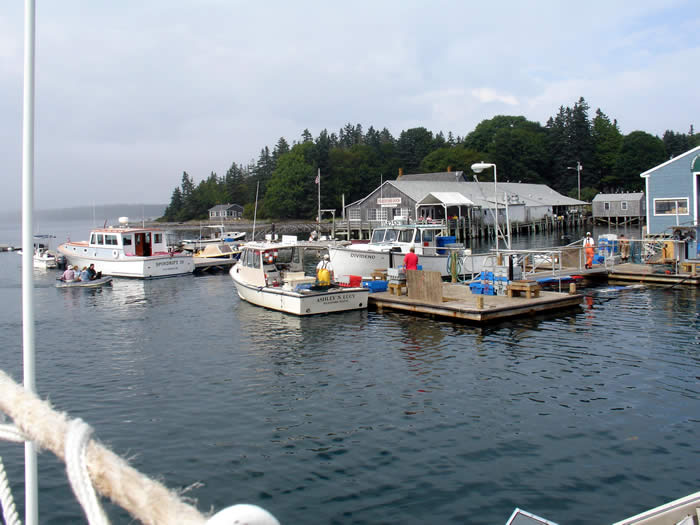 A stop on the Cranberry Island Ferry