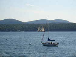 Sailing on Somes Sound natural fjord