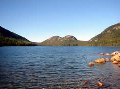 Enjoy Popovers and Lobster Stew overlooking Jordan Pond near Bar Harbor