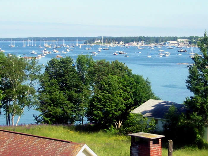 the view from our Maine Bed and Breakfast overlooking Southwest Harbor