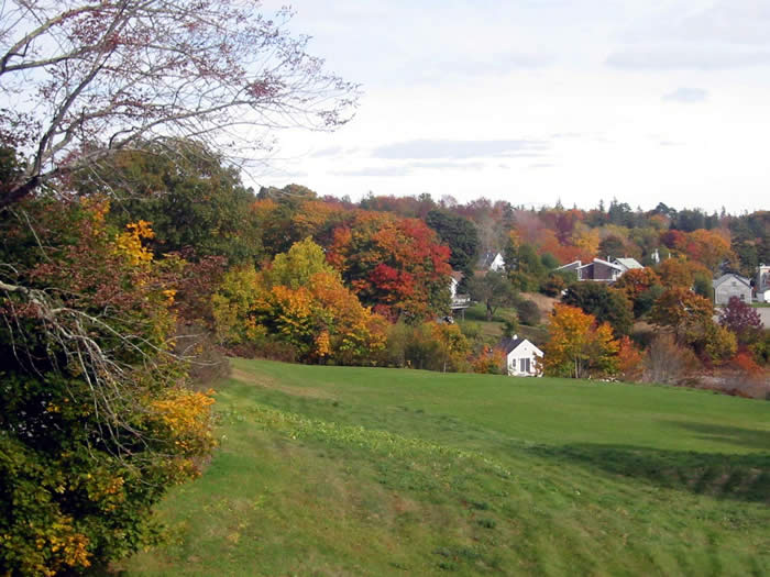 Autumn color as seen from The Kingsleigh Inn, Maine